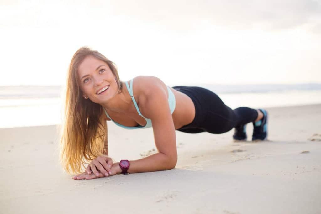 plank woman